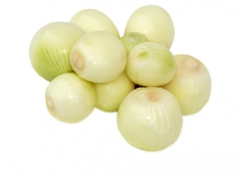 Peeled brown onions